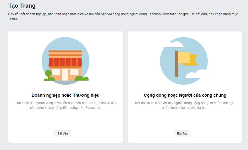 Tạo Fanpage bán hàng Facebook