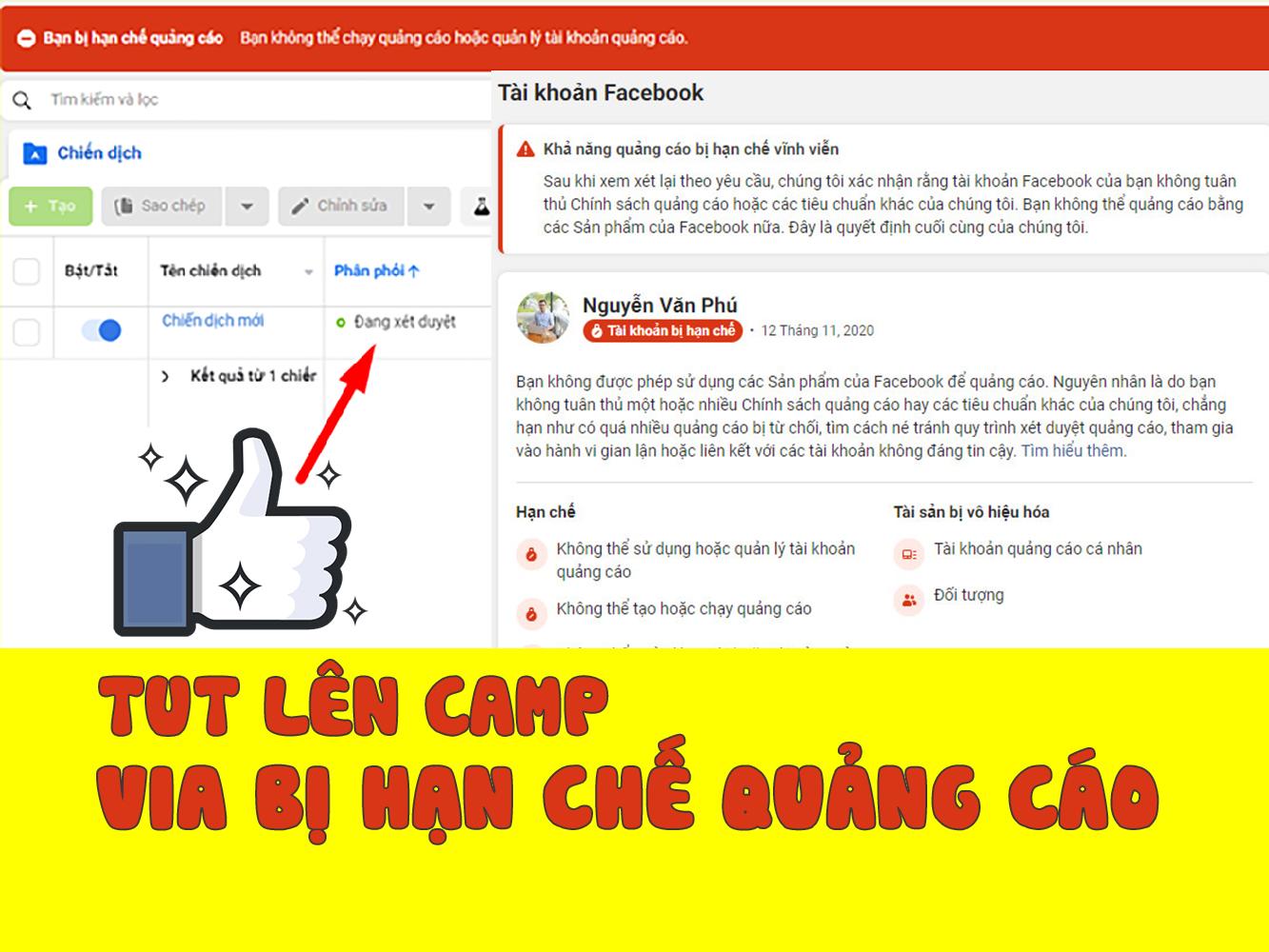 Hướng dẫn lên camp bằng via bị hạn chế quảng cáo – TUT lên camp không cần via xác minh danh tính